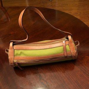 Katie Spade green hand bag.